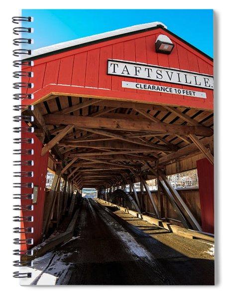 Taftsville Covered Bridge In Vermont In Winter Spiral Notebook