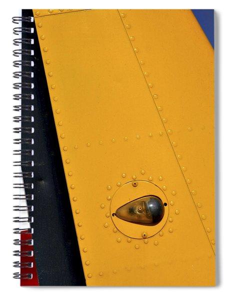 Tail Detail Of Vultee Bt-13 Valiant Spiral Notebook