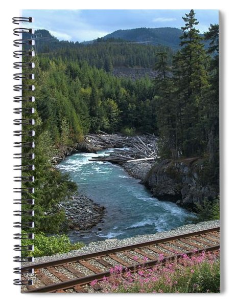 Train Tracks By The Cheakamus River Spiral Notebook