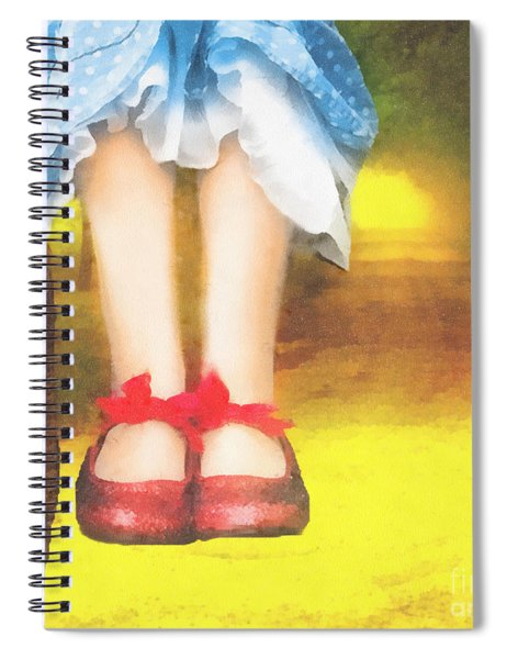 Taking Yellow Path Spiral Notebook
