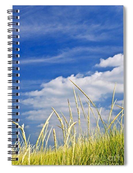 Tall Grass On Sand Dunes Spiral Notebook
