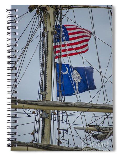 Tall Ships Flags Spiral Notebook