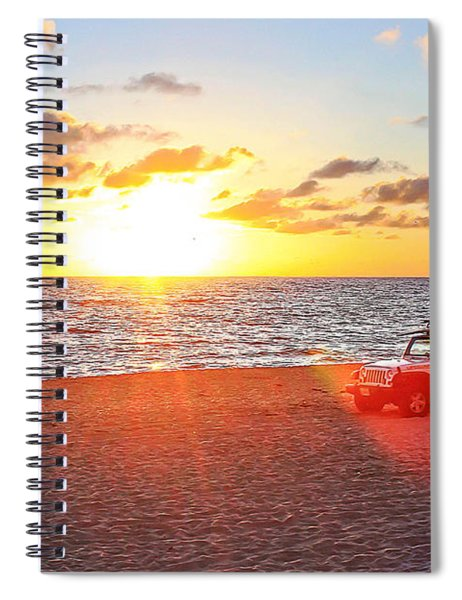 Tamarack At Sunset Spiral Notebook
