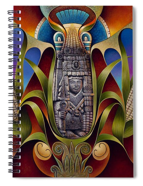 Tapestry Of Gods - Chicomecoatl Spiral Notebook