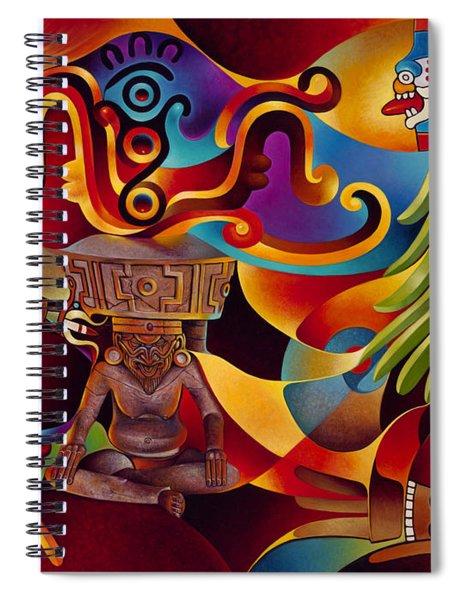 Tapestry Of Gods - Huehueteotl Spiral Notebook
