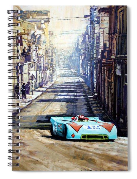 Targa Florio 1970  Porsche 908 Siffert Spiral Notebook
