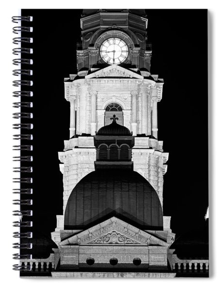 Tarrant County Courthouse Bw V1 020815 Spiral Notebook