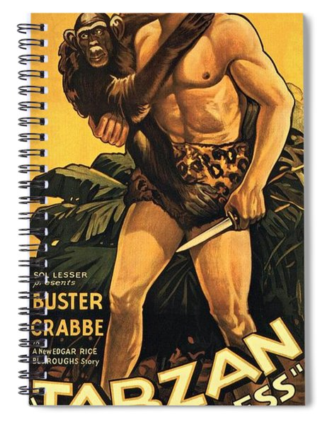 Spiral Notebook featuring the photograph Tarzan The Fearless  by Movie Poster Prints