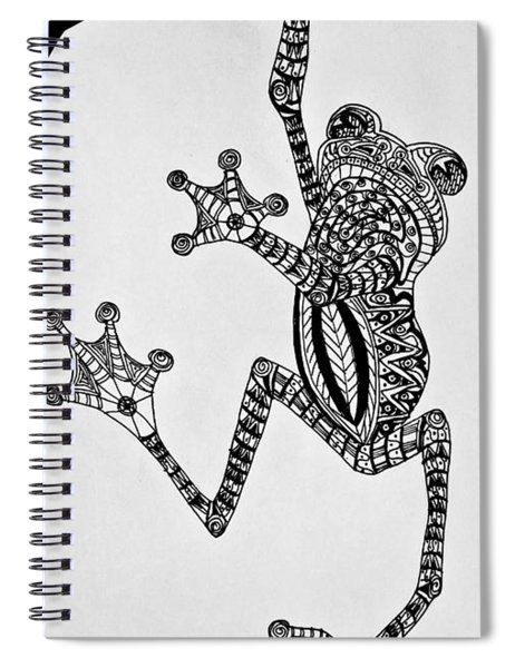 Tattooed Tree Frog - Zentangle Spiral Notebook