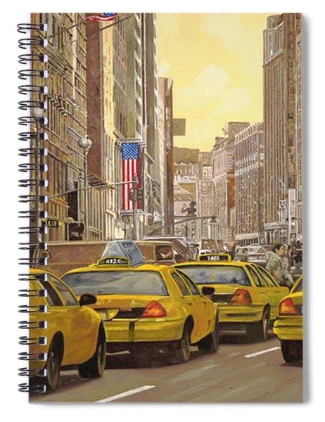 taxi a New York Spiral Notebook