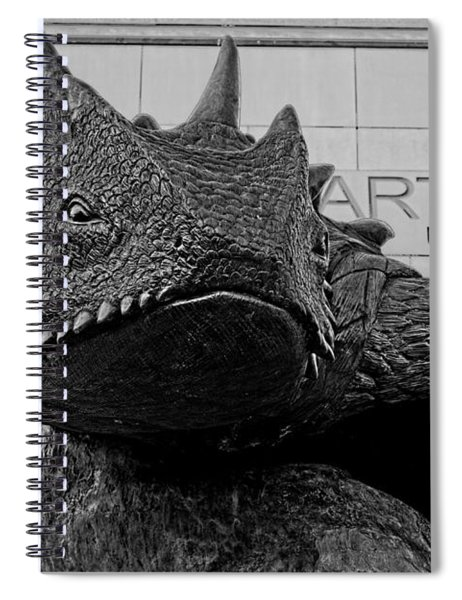 Tcu Horned Frog Black And White Spiral Notebook