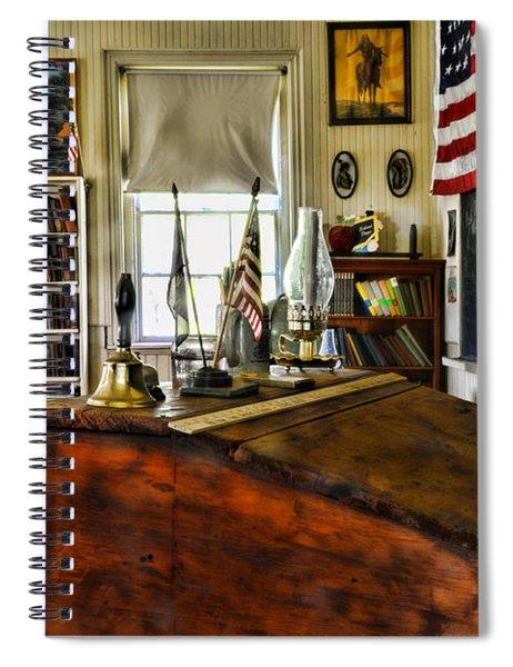 Teacher - Vintage Desk Spiral Notebook