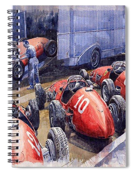 Team Ferrari 500 F2 1952 French Gp Spiral Notebook