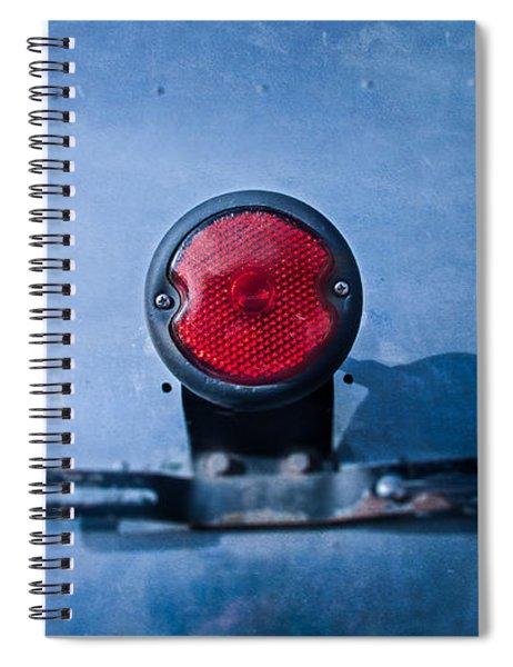 Teardrop Taillight Spiral Notebook