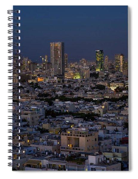 Tel Aviv At The Twilight Magic Hour Spiral Notebook