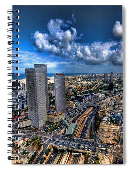 Tel Aviv Center Skyline Spiral Notebook