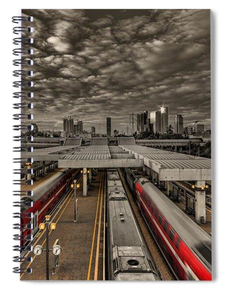 Tel Aviv Central Railway Station Spiral Notebook