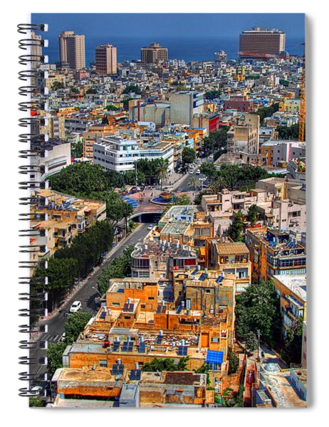 Tel Aviv Eagle Eye View Spiral Notebook