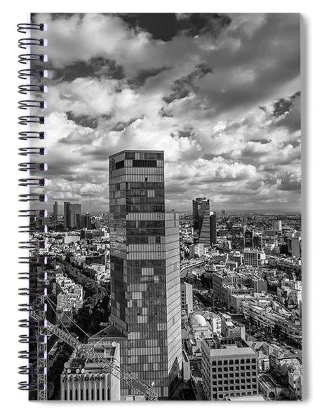 Tel Aviv High And Above Spiral Notebook