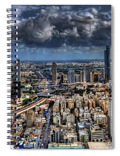 Tel Aviv Love Spiral Notebook
