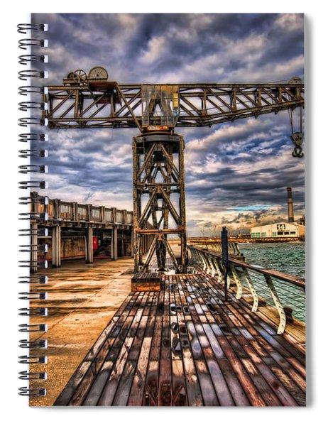 Tel Aviv Port At Winter Time Spiral Notebook