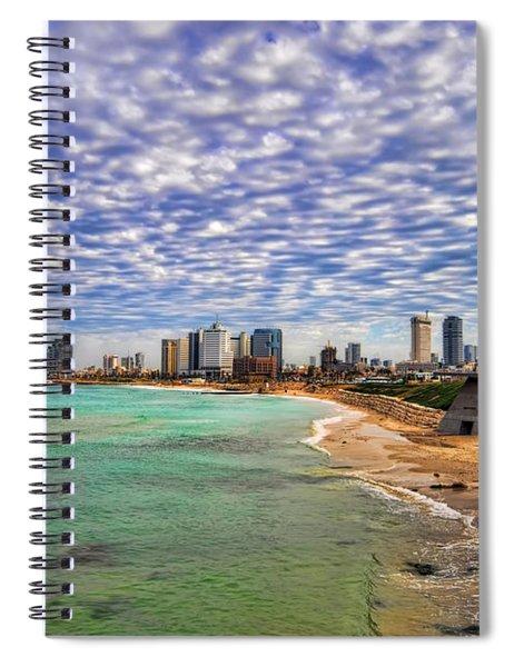 Tel Aviv Turquoise Sea At Springtime Spiral Notebook