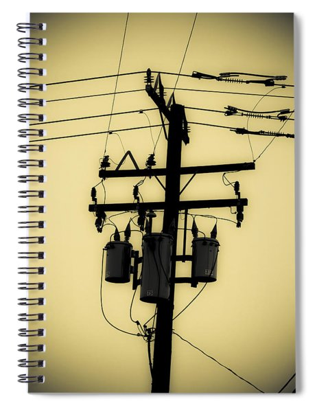 Telephone Pole 3 Spiral Notebook