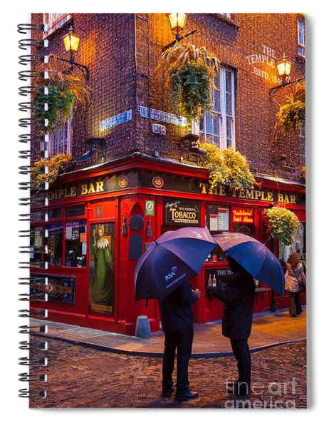 Spiral Notebook featuring the photograph Temple Bar by Inge Johnsson