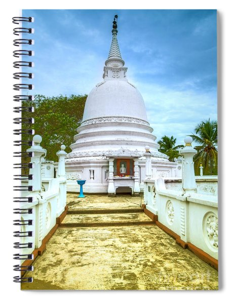 temple complex at the tropical island Sri Lanka Spiral Notebook