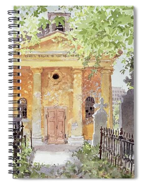 Temple Of Harmony, Vesprem, Hungary, 1996 Wc On Paper Spiral Notebook
