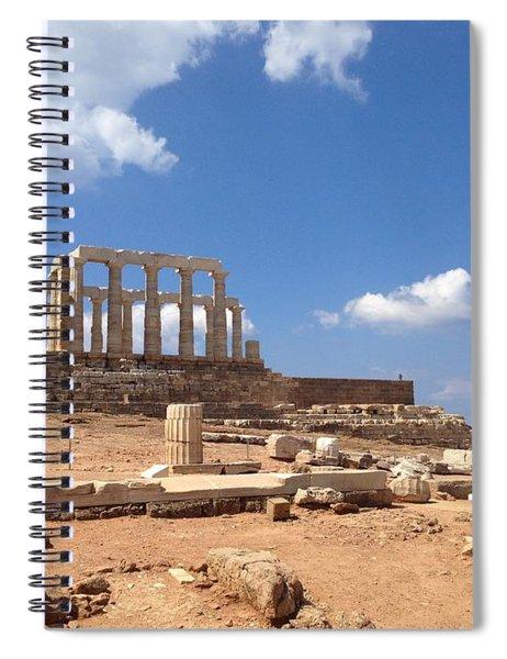 Temple Of Poseidon Spiral Notebook