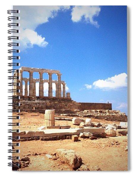 Temple Of Poseidon Vignette Spiral Notebook