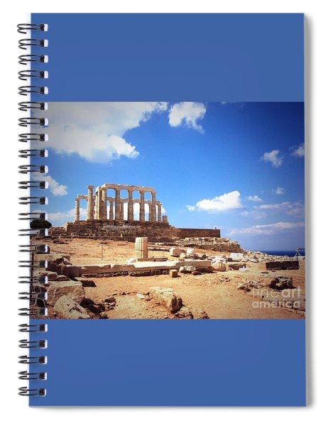 Temple Of Poseidon Vignette Spiral Notebook