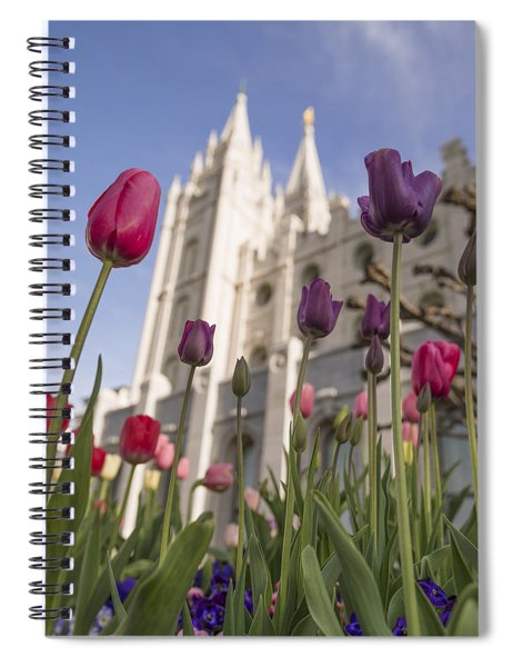 Temple Tulips Spiral Notebook