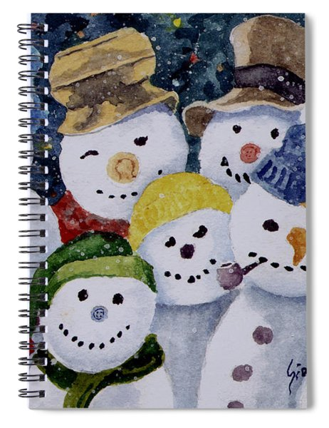 Ten Little Snowmen Spiral Notebook