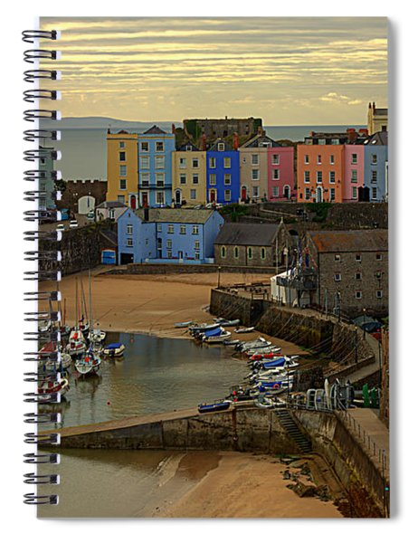 Tenby Harbour In The Morning Spiral Notebook