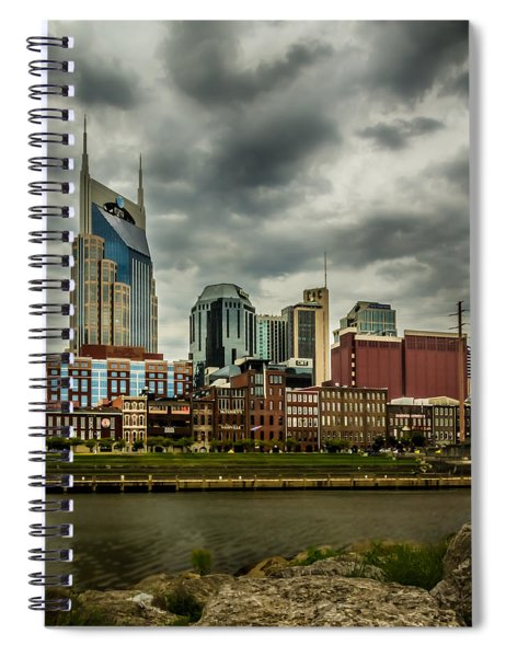 Tennessee - Nashville From Across The Cumberland River Spiral Notebook
