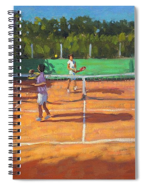 Tennis Practice Spiral Notebook
