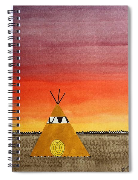 Tepee Or Not Tepee Original Painting Spiral Notebook