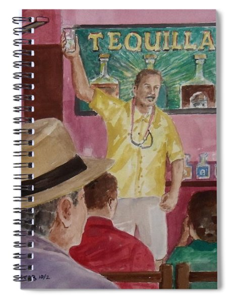 Tequilla Tasting At Puerto Vallarta Mexico Spiral Notebook