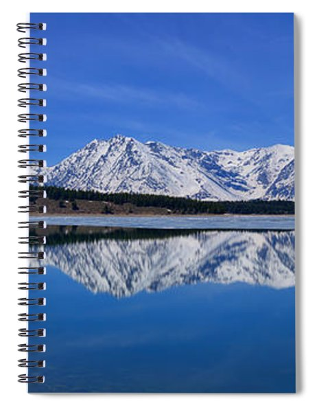 Teton End Of Winter Reflections Spiral Notebook