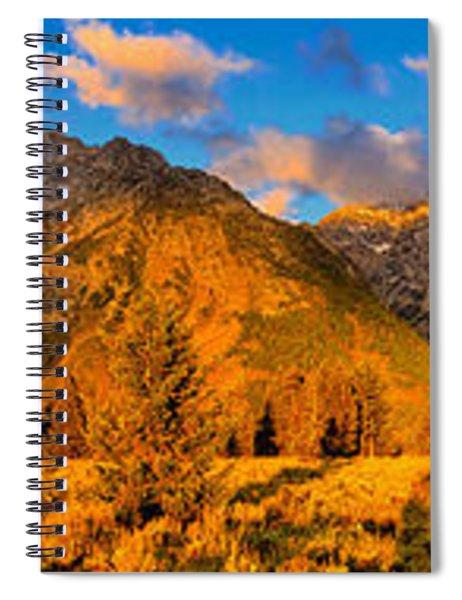 Teton Mountain View Panorama Spiral Notebook