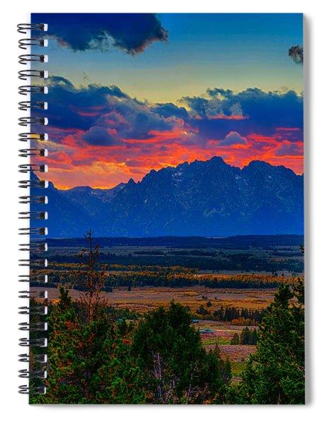 Teton Sunset Spiral Notebook