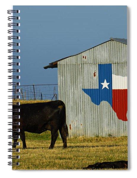 Texas Farm With Texas Logo Spiral Notebook