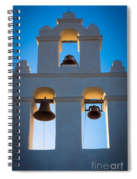 Spiral Notebook featuring the photograph Texas Mission by Inge Johnsson