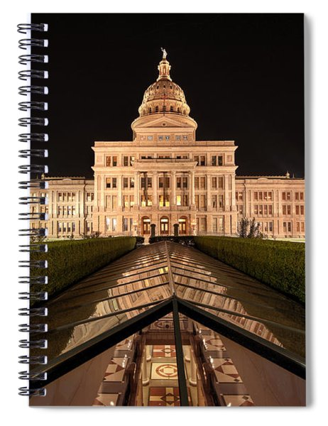 Texas State Capitol Building At Night Spiral Notebook