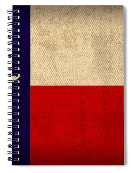 Texas State Flag Lone Star State Art On Worn Canvas Spiral Notebook
