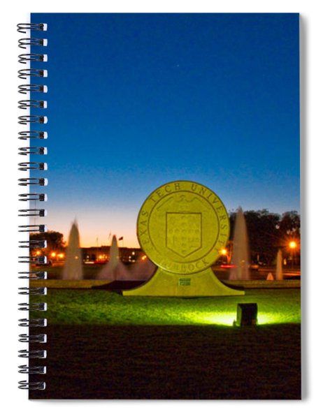 Texas Tech Seal At Night Spiral Notebook by Mae Wertz