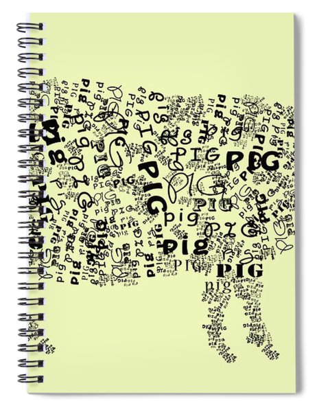 Text Pig Spiral Notebook