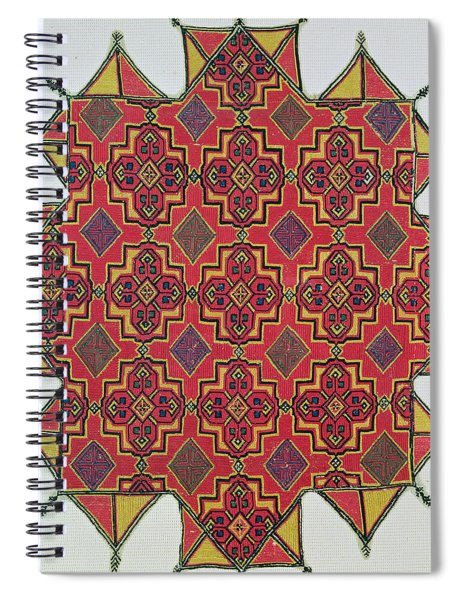 Textile With Geometric Pattern Spiral Notebook